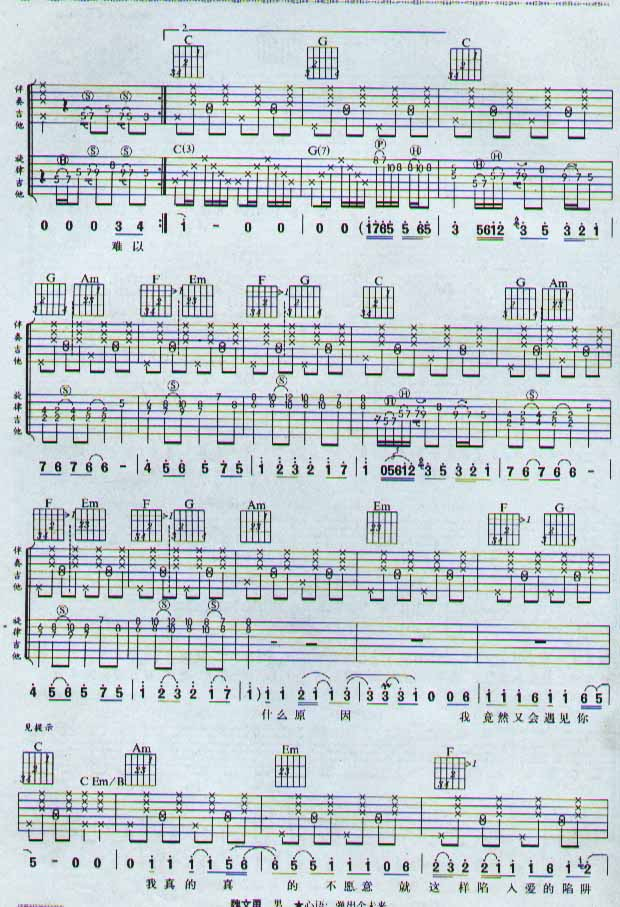 吉他谱 - 第3张